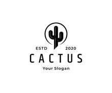 Cactus Hipster Vintage Logo Icon Design Vector