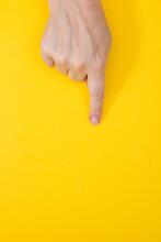 Woman Hand Touching Virtual Sc...