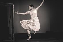 A Graceful Bharatnatyam Dancer