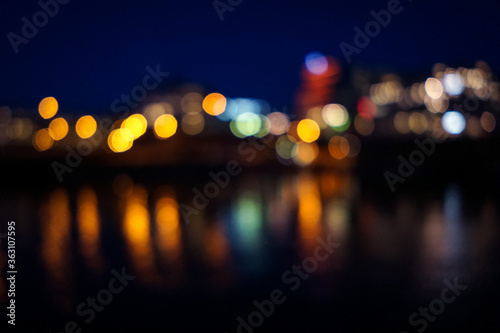 Foto Defocused Image Of Illuminated Lights At Night