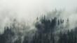 Leinwandbild Motiv Panoramic View Of Pine Trees In Forest Against Sky
