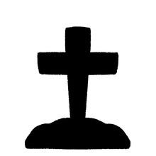 洋風な十字架のお墓の...