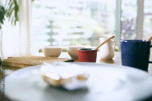 Valokuva おうちカフェでワッフルスイーツのデザート
