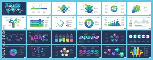 Set of workflow and strategy concept infographic charts Canvas-taulu