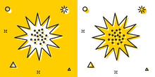 Black Sea Urchin Icon Isolated...