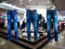 Close-up Of Jeans Hanging For ...