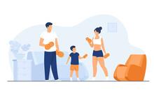 Family Sport Activity Concept....