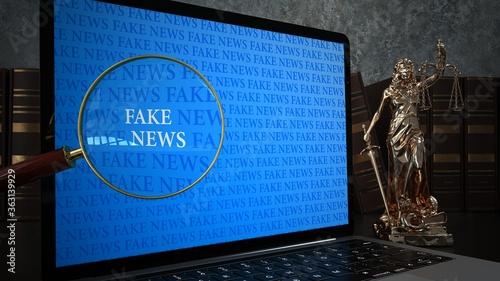 Fototapeta Verbreitung von Fake News ist illegal obraz