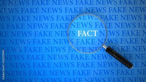 Fototapeta Fake News Loupe Facts obraz
