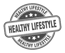 Healthy Lifestyle Stamp. Healt...