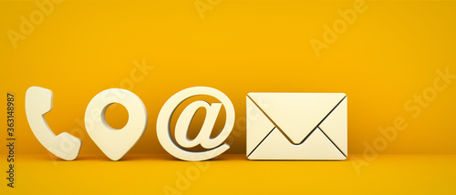 Fotomural Business contact icons