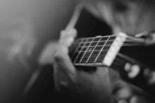 Closeup Of A Man Playing The G...
