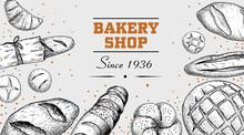 Sketch Style Bakery Poster Tem...