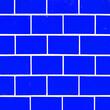 Leinwanddruck Bild - Abstract colorful phantom blue (trendcolor) seamless brick stone tiles wall texture background square