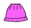 canvas print picture - Graphic image of a pink mini skirt on a white background