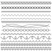 Different Black Stitch Lines A...