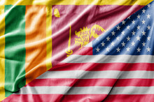 Mixed USA And Sri Lanka Flag, ...