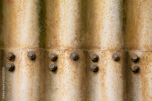 Foto Texture of old weathered corrugated iron