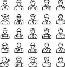 Professions Outline Vector Ico...