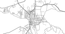 Urban Vector City Map Of Kon Tum, Vietnam