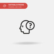 Problem Simple vector icon. Illustration symbol design template for web mobile UI element. Perfect color modern pictogram on editable stroke. Problem icons for your business project