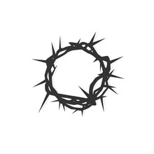 Crown Of Thorns. Silhouette Of...
