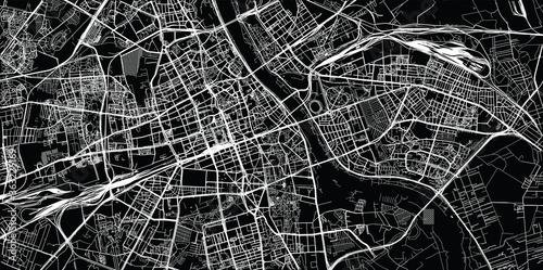 Fotografía Urban vector city map of Warsaw, Poland