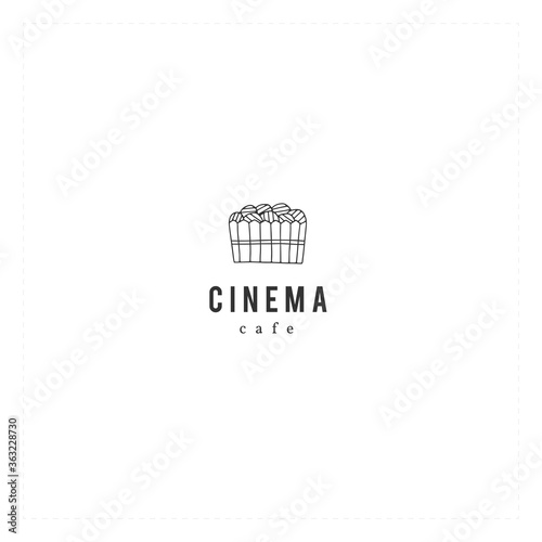 Vector hand drawn logo template with chips Canvas-taulu
