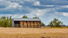 Hay Bale Shed In The Australia...