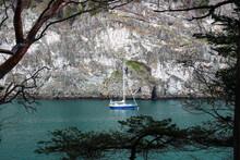 Sailboat Sailing On Sea