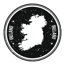 Ireland Europe Map Symbol Roun...