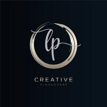 LP Initial Handwriting Logo Te...