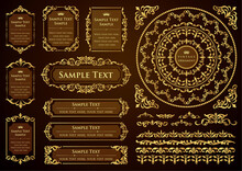 Set Of Vintage Design Elements...