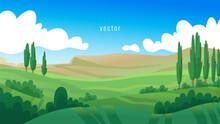 Landscape Vector Design. Sprin...