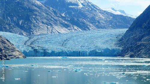 Fotografiet Scenic View Of Hubbard Glacier