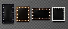 Square Frames With Light Bulbs...
