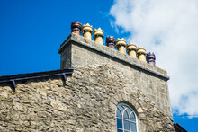 Close Up Shot Of An Ancient Chimneys Pot In Kendal