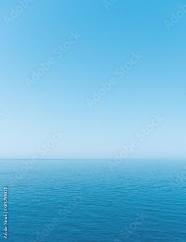 Fototapeta Minimalistic landscape, sea, sky and horizon obraz