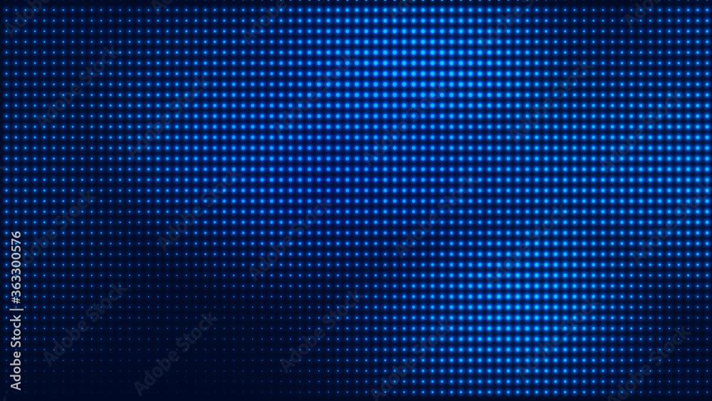 Fototapeta Dot blue pattern screen led light gradient texture background. Abstract  technology big data digital background. 3d rendering.