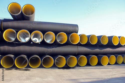 Obraz na plátně Corrugated pipes