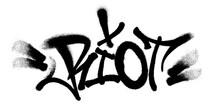 Sprayed Riot Font Graffiti Wit...