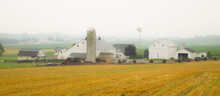 Amish Farm With Barn And Agric...