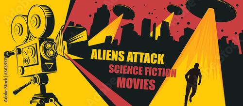Fotografía Cinema poster for science fiction movies
