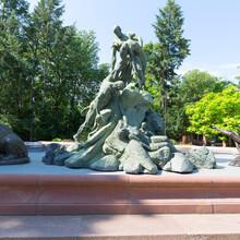 Deluge Fountain, Monumental Sculpture Fountain Portrays The Culmination Moment Of The Biblical Flood, Bydgoszcz, Poland