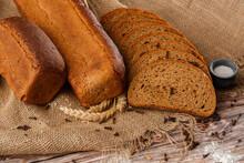 Close-up Of Homemade Bread. Pe...