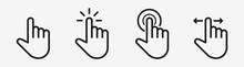 Finger Cursor Touch Screen Vec...
