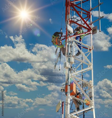 Fototapeta African tower inspection obraz