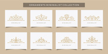 Set Of Ornament Logo Premium L...