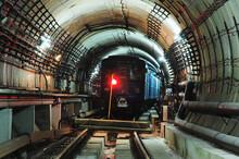 Metro Train In The Tunnel