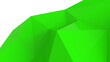 canvas print picture - Green abstract modern crystal background. Polygon, Line, Triangle pattern shape for wallpaper. Illustration low poly, polygonal design. futuristic, web, network concept